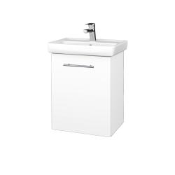 Dreja - Kúpeľňová skriňa DOOR SZD 50 - N01 Bílá lesk / Úchytka T02 / L01 Bílá vysoký lesk / Levé (21927B)