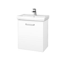 Dreja - Kúpeľňová skriňa DOOR SZD 55 - N01 Bílá lesk / Úchytka T01 / L01 Bílá vysoký lesk / Pravé (21941AP)