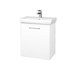 Dreja - Kúpeľňová skriňa DOOR SZD 55 - N01 Bílá lesk / Úchytka T04 / L01 Bílá vysoký lesk / Pravé (21941EP)
