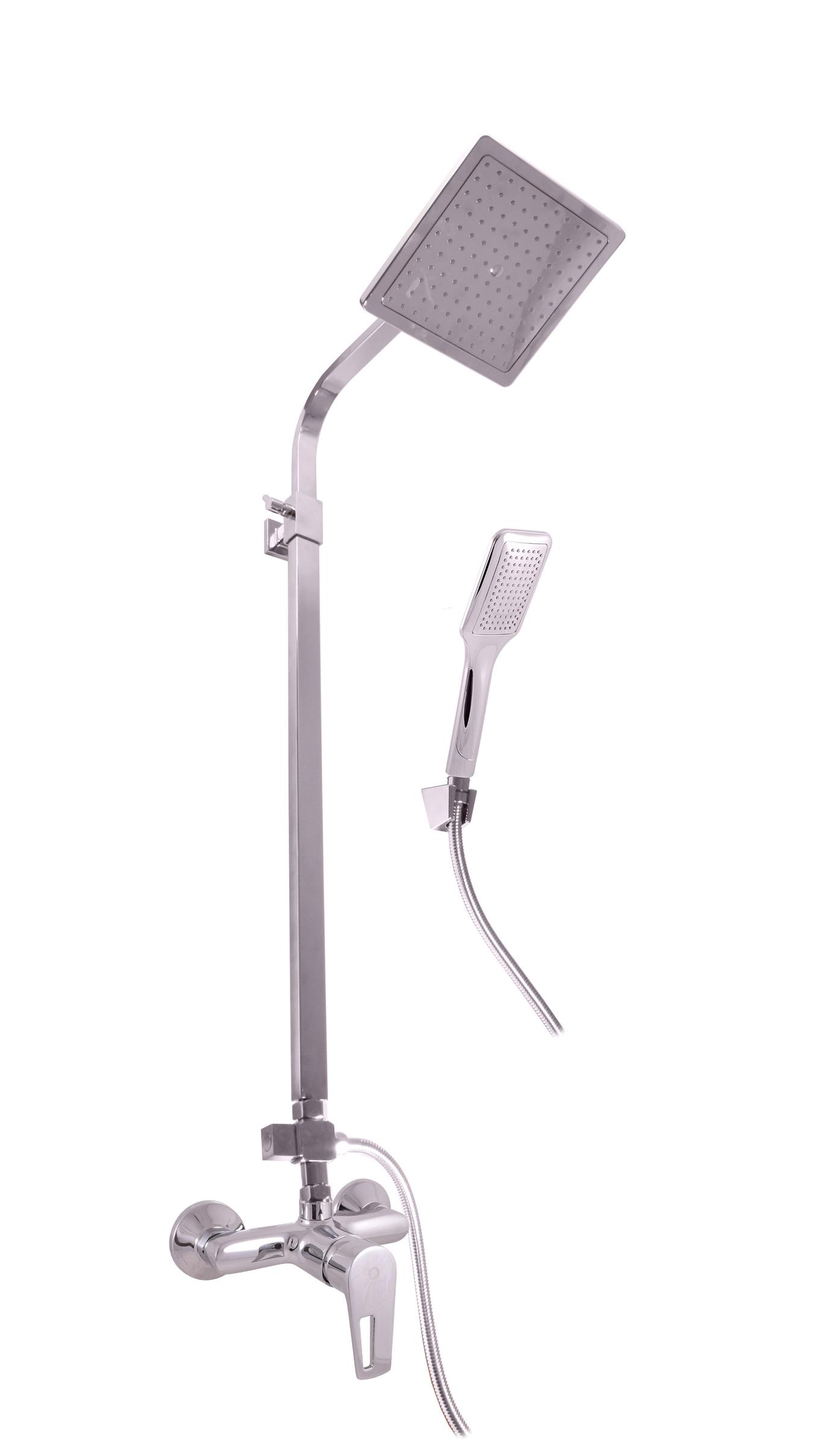 SLEZAK-RAV - Vodovodné batérie sprchová COLORADO s hlavovou a ručnou sprchou, Farba: chróm, Rozmer: 100 mm CO282.0 / 6
