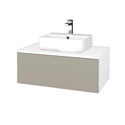 Dreja - Kúpeľňová skrinka MODULE SZZ1 80 - N01 Bílá lesk / L04 Béžová vysoký lesk (297763)