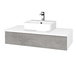 Dreja - Kúpeľňová skrinka MODULE SZZ 100 - N01 Bílá lesk / D01 Beton (298760)