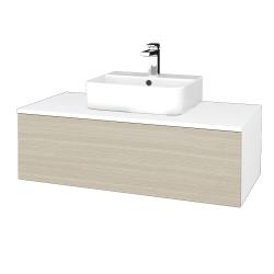 Dreja - Kúpeľňová skrinka MODULE SZZ1 100 - N01 Bílá lesk / D04 Dub (299040)