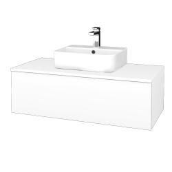Dreja - Kúpeľňová skrinka MODULE SZZ1 100 - N01 Bílá lesk / M01 Bílá mat (299132)