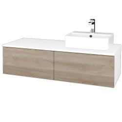 Dreja - Kúpeľňová skrinka MODULE SZZ12 120 - N01 Bílá lesk / D17 Colorado / Levé (301002)
