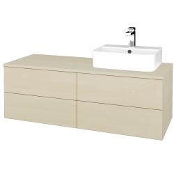 Dreja - Kúpeľňová skrinka MODULE SZZ4 120 - D02 Bříza / D02 Bříza / Levé (301644)