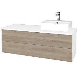 Dreja - Kúpeľňová skrinka MODULE SZZ4 120 - N01 Bílá lesk / D17 Colorado / Levé (301941)