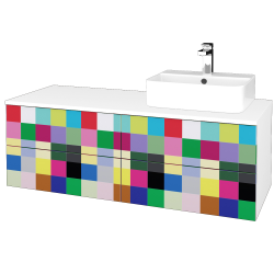 Dreja - Kúpeľňová skrinka MODULE SZZ4 120 - N01 Bílá lesk / IND Individual / Levé (301972)