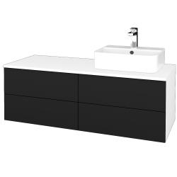 Dreja - Kúpeľňová skrinka MODULE SZZ4 120 - N01 Bílá lesk / N08 Cosmo / Levé (302030)
