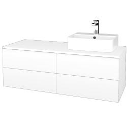 Dreja - Kúpeľňová skrinka MODULE SZZ4 120 - N01 Bílá lesk / L01 Bílá vysoký lesk / Levé (302047)
