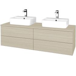 Dreja - Kúpeľňová skrinka MODULE SZZ4 140 - D04 Dub / D04 Dub (303532)