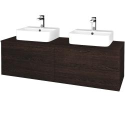 Dreja - Kúpeľňová skrinka MODULE SZZ4 140 - D08 Wenge / D08 Wenge (303563)
