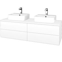 Dreja - Kúpeľňová skrinka MODULE SZZ4 140 - N01 Bílá lesk / L01 Bílá vysoký lesk (303914)