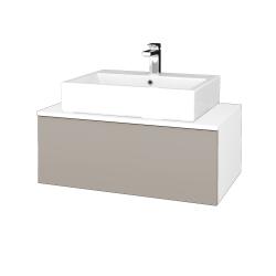 Dreja - Kúpeľňová skrinka MODULE SZZ1 80 - N01 Bílá lesk / N07 Stone (311889)