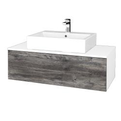 Dreja - Kúpeľňová skrinka MODULE SZZ1 100 - N01 Bílá lesk / D10 Borovice Jackson (313180)