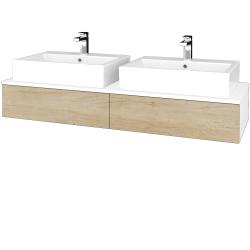 Dreja - Kúpeľňová skrinka MODULE SZZ2 140 - N01 Bílá lesk / D15 Nebraska (316952)