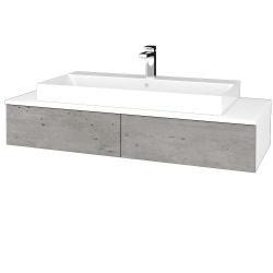 Dreja - Kúpeľňová skrinka MODULE SZZ2 120 - N01 Bílá lesk / D01 Beton (336059)