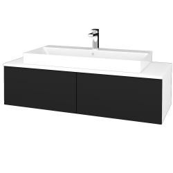 Dreja - Kúpeľňová skrinka MODULE SZZ12 120 - N01 Bílá lesk / N08 Cosmo (336547)