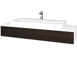 Dreja - Kúpeľňová skrinka MODULE SZZ2 140 - N01 Bílá lesk / D08 Wenge (337384)