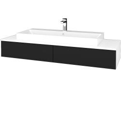 Dreja - Kúpeľňová skrinka MODULE SZZ2 140 - N01 Bílá lesk / N08 Cosmo (337520)
