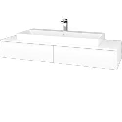 Dreja - Kúpeľňová skrinka MODULE SZZ2 140 - N01 Bílá lesk / L01 Bílá vysoký lesk (337537)