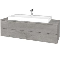 Dreja - Kúpeľňová skrinka MODULE SZZ4 140 - D01 Beton / D01 Beton (338084)