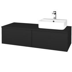 Dreja - Kúpeľňová skrinka MODULE SZZ12 120 - L03 Antracit vysoký lesk / L03 Antracit vysoký lesk / Pravé (301316P)