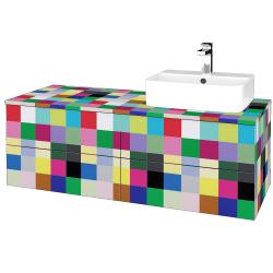Dreja - Kúpeľňová skrinka MODULE SZZ4 120 - IND Individual / IND Individual / Pravé (302245P)