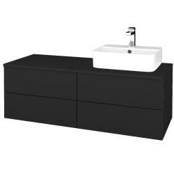 Dreja - Kúpeľňová skrinka MODULE SZZ4 120 - L03 Antracit vysoký lesk / L03 Antracit vysoký lesk / Pravé (302252P)