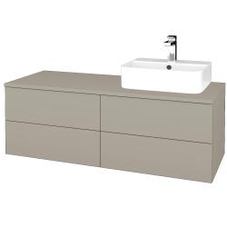 Dreja - Kúpeľňová skrinka MODULE SZZ4 120 - L04 Béžová vysoký lesk / L04 Béžová vysoký lesk / Pravé (302269P)