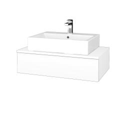 Dreja - Kúpeľňová skrinka MODULE SZZ 80 - N01 Bílá lesk / L01 Bílá vysoký lesk (311438)