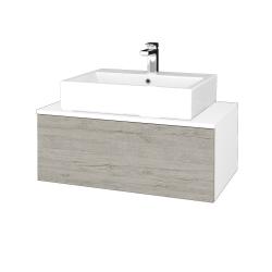 Dreja - Kúpeľňová skrinka MODULE SZZ1 80 - N01 Bílá lesk / D05 Oregon (311735)