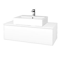 Dreja - Kúpeľňová skrinka MODULE SZZ1 100 - N01 Bílá lesk / M01 Bílá mat (313227)