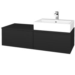 Dreja - Kúpeľňová skrinka MODULE SZZ12 120 - L03 Antracit vysoký lesk / L03 Antracit vysoký lesk / Pravé (315405P)