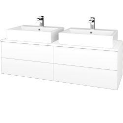 Dreja - Kúpeľňová skrinka MODULE SZZ4 140 - N01 Bílá lesk / M01 Bílá mat (317928)