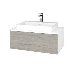 Dreja - Kúpeľňová skrinka MODULE SZZ1 80 - N01 Bílá lesk / D05 Oregon (333393)
