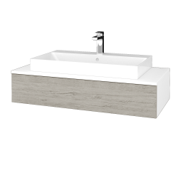 Dreja - Kúpeľňová skrinka MODULE SZZ 100 - N01 Bílá lesk / D05 Oregon (334338)