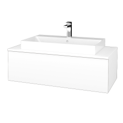 Dreja - Kúpeľňová skrinka MODULE SZZ1 100 - N01 Bílá lesk / M01 Bílá mat (334963)