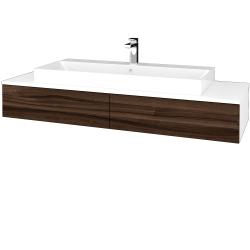 Dreja - Kúpeľňová skrinka MODULE SZZ2 140 - N01 Bílá lesk / D06 Ořech (337377)
