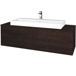 Dreja - Kúpeľňová skrinka MODULE SZZ4 140 - D08 Wenge / D08 Wenge (338169)