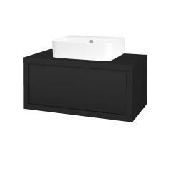 Dreja - Kúpeľňová skriňa STORM SZZ 80 (umývadlo JOY 3) - L03 Antracit vysoký lesk / L03 Antracit vysoký lesk (251123)