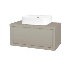 Dreja - Kúpeľňová skriňa STORM SZZ 80 (umývadlo JOY 3) - L04 Béžová vysoký lesk / L04 Béžová vysoký lesk (251147)