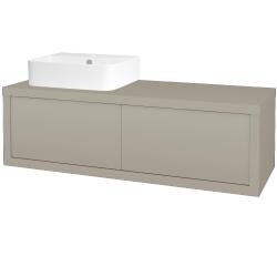 Dreja - Kúpeľňová skriňa STORM SZZ2 120 (umývadlo JOY 3) - L04 Béžová vysoký lesk / L04 Béžová vysoký lesk / Levé (252366)