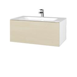 Dreja - Kúpeľňová skriňa VARIANTE SZZ 80 - N01 Bílá lesk / D02 Bříza (268251)