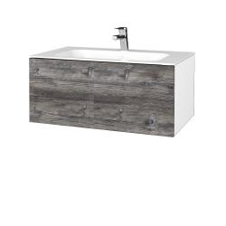 Dreja - Kúpeľňová skriňa VARIANTE SZZ 80 - N01 Bílá lesk / D10 Borovice Jackson (268329)