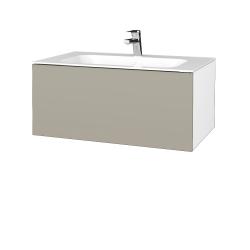 Dreja - Kúpeľňová skriňa VARIANTE SZZ 80 - N01 Bílá lesk / M05 Béžová mat (268374)