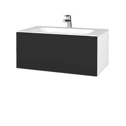 Dreja - Kúpeľňová skriňa VARIANTE SZZ 80 - N01 Bílá lesk / N03 Graphite (268411)