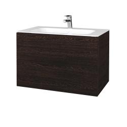 Dreja - Kúpeľňová skriňa VARIANTE SZZ2 80 - D08 Wenge / D08 Wenge (268572)