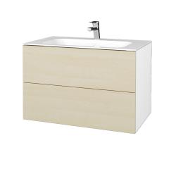 Dreja - Kúpeľňová skriňa VARIANTE SZZ2 80 - N01 Bílá lesk / D02 Bříza (268725)