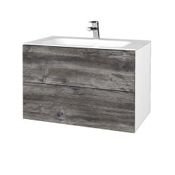 Dreja - Kúpeľňová skriňa VARIANTE SZZ2 80 - N01 Bílá lesk / D10 Borovice Jackson (268794)